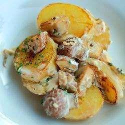 Рецепт: Картошка, жаренная с грибами в сметане - все рецепты России