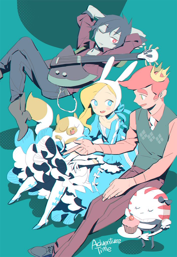 shishio*, Adventure Time, Peppermint Butler, Marshall Lee the Vampire King, Fionna the Human Girl, Prince Bubba Gumball