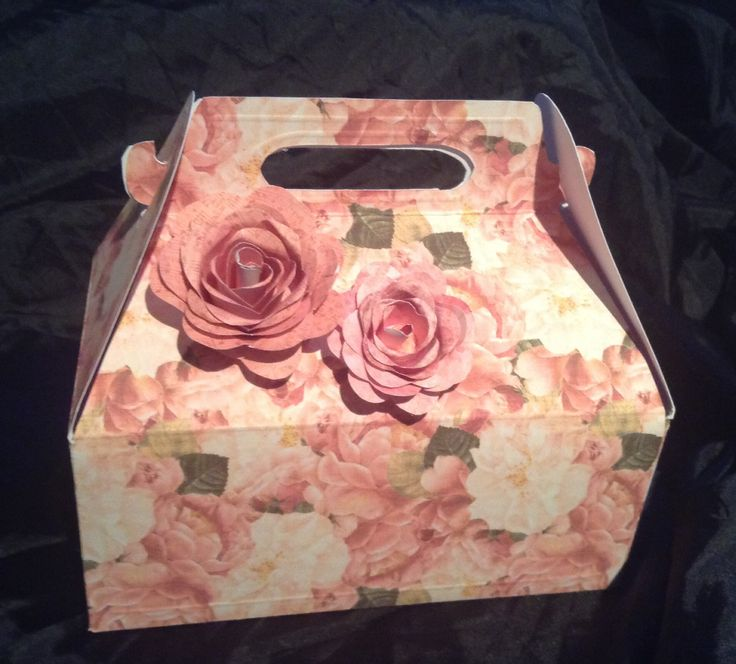 My first handmade floral gift box....not too shabby.....just shabby chic! (Back)