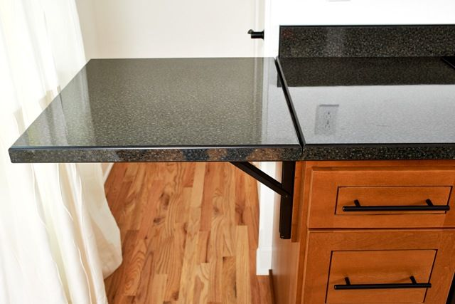A Custom Fold Down Countertop Provides Additional Space As Needed