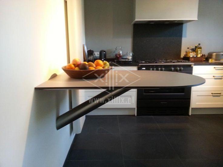Bartafel Aan Keuken : keukentafel blind aan de wand gemonteerd