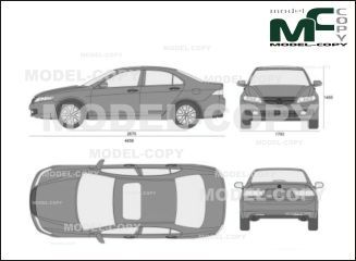 Acura TSX' 2007 - drawing