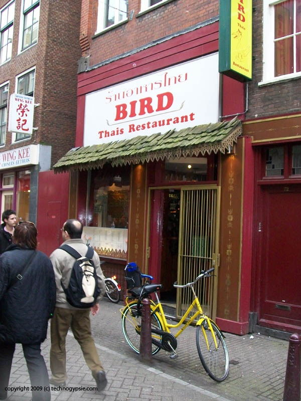 Bird is the best Thai food place (packed with people) in Amsterdam. Address: Zeedijk 74 Amsterdam.
