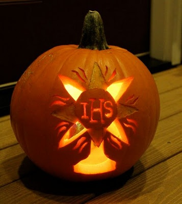 Image result for pumpkins with catholic saints