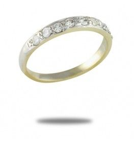 0.30 CT Diamond Ring In 18k Two-Tone Gold