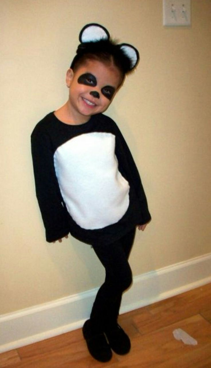 Homemade panda costume