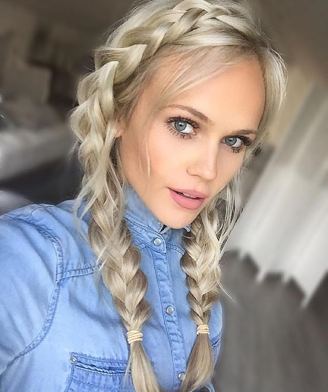 She's got us wrapped around her finger. Double braids via @hildeee                                                                                                                                                      More