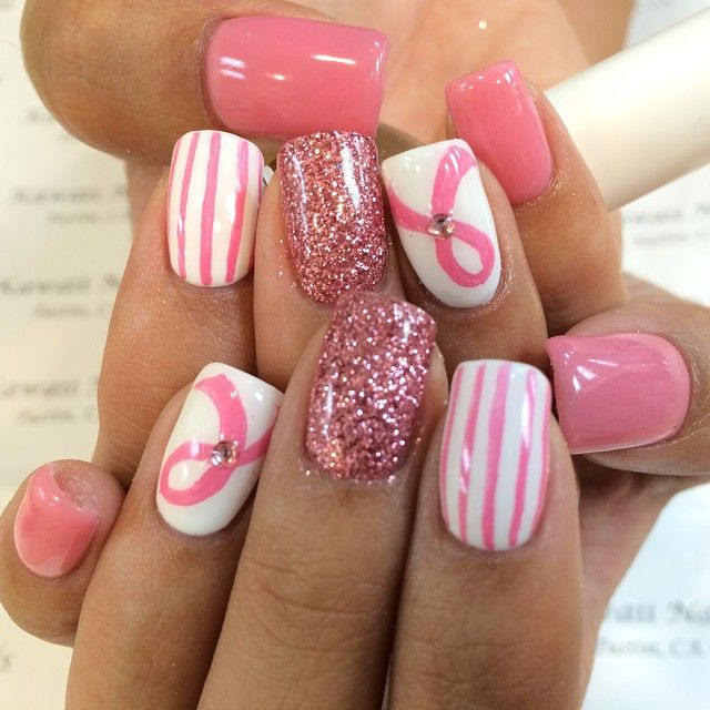Breast Cancer Support Nails