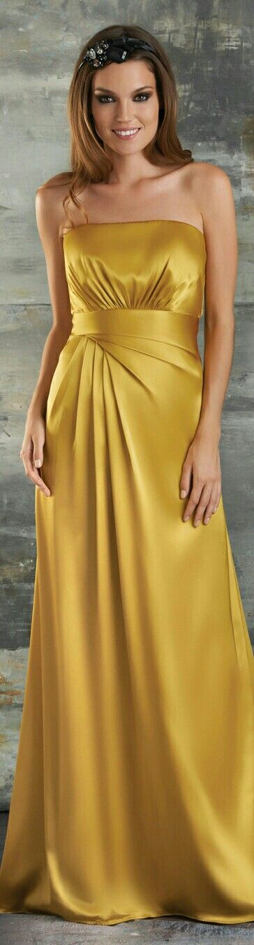 Bari Jay Evening Gowns in Mustard Yellow #657