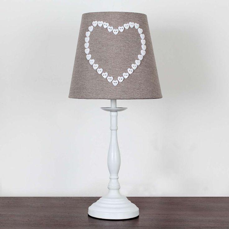 Amour Heart Button Table Lamp | Dunelm