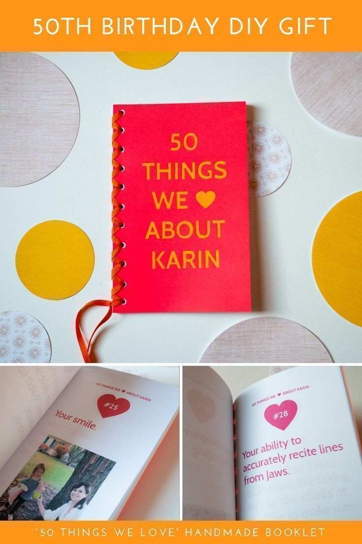 50 Things We Love About You Book 50th Birthday Gift Ideas In