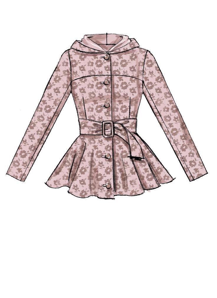 38 best Velvet Coat Potential Patterns images on Pinterest | Sewing ...