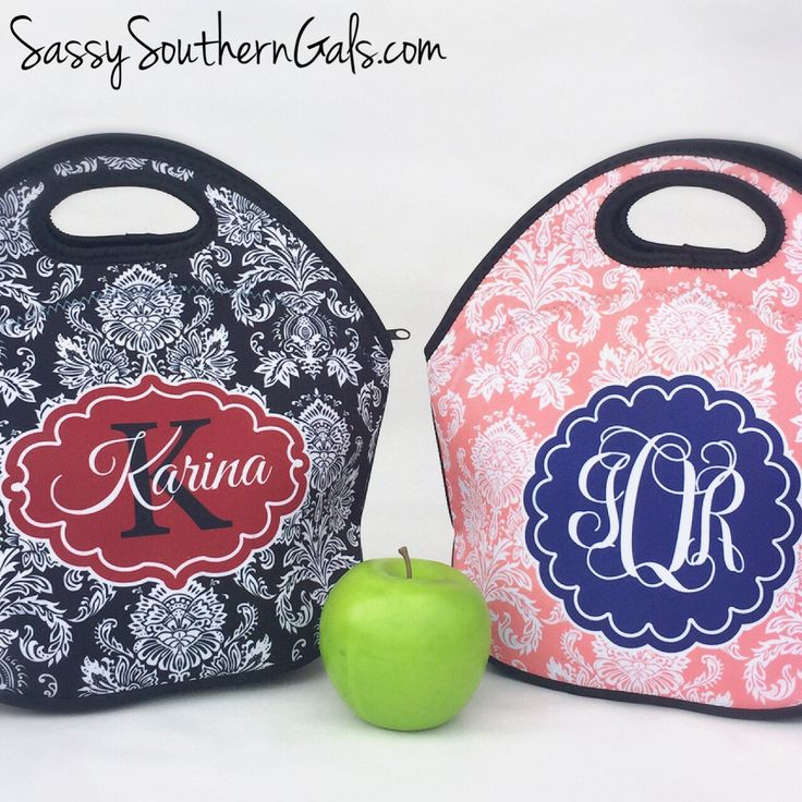 Monogrammed Lunchbox, Monogrammed Lunch Bags Insulated Neoprene, Monogrammed Lunch Bag, Personalized Lunch Tote, Design Your Own by SassySouthernGals on Etsy https://www.etsy.com/listing/211451062/monogrammed-lunchbox-monogrammed-lunch