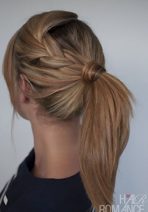 2014 Cute Easy Ponytail Hairstyle Tutorials: Medium Straight Hair