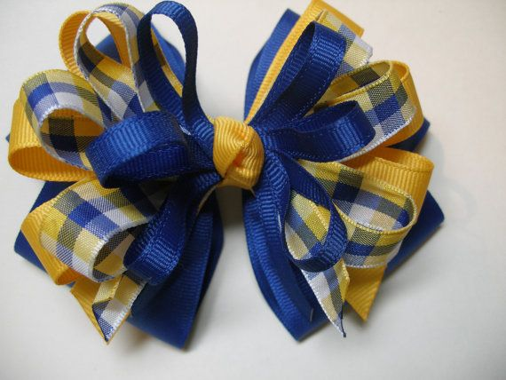 Large Hair Bow Toddler to Big Girl Boutique Uniform by HareBizBows, $8.50