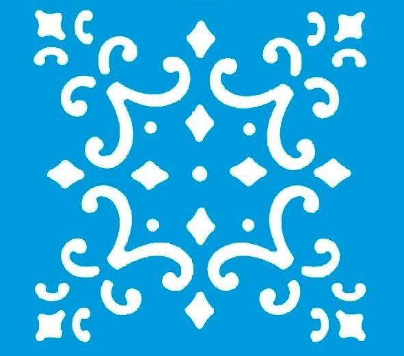 Stencil  Azulejo Português 10 x 10cm - STX - 004