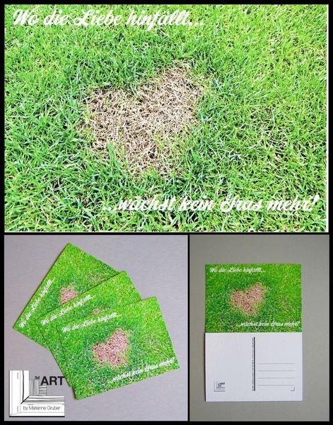 "Postkarte ""Wo die Liebe hinfällt..."" von Art-MG auf DaWanda.com"