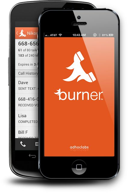 Burner - Disposable phone numbers. | Temporary phone numbers for Craiglist, online dating, multiple business lines and more. | Cell phone numbers with any area code you want.