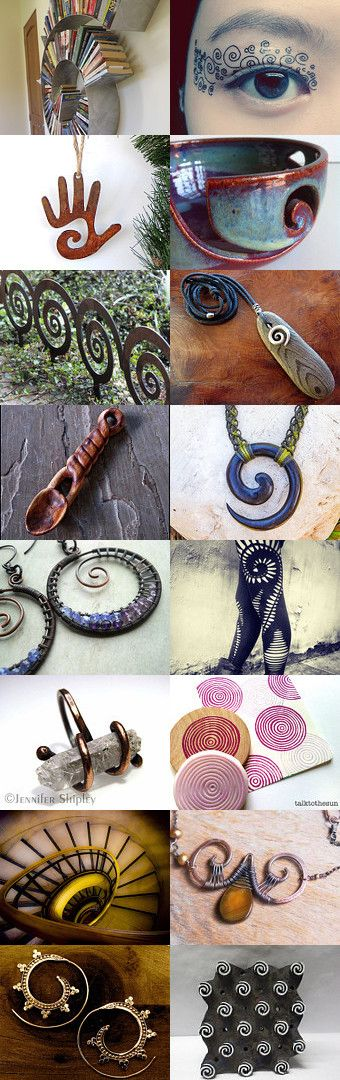 Spiral Eye Etsy Treausry created by Jennifer Watson --Pinned with TreasuryPin.com