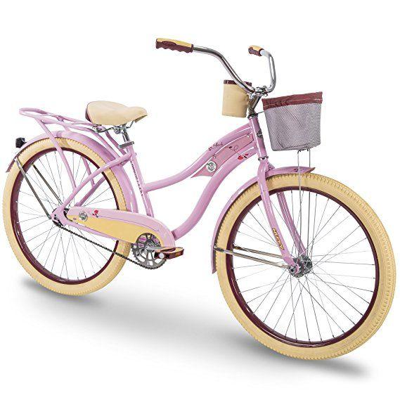 Huffy 26 Women S Beach Cruiser Holbrook Bike W Cup Holder Handle Basket Rear Rack Cruiser Bike Beach Cruiser Huffy