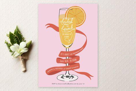 Mimosa Brunch Bridal Shower Invitations