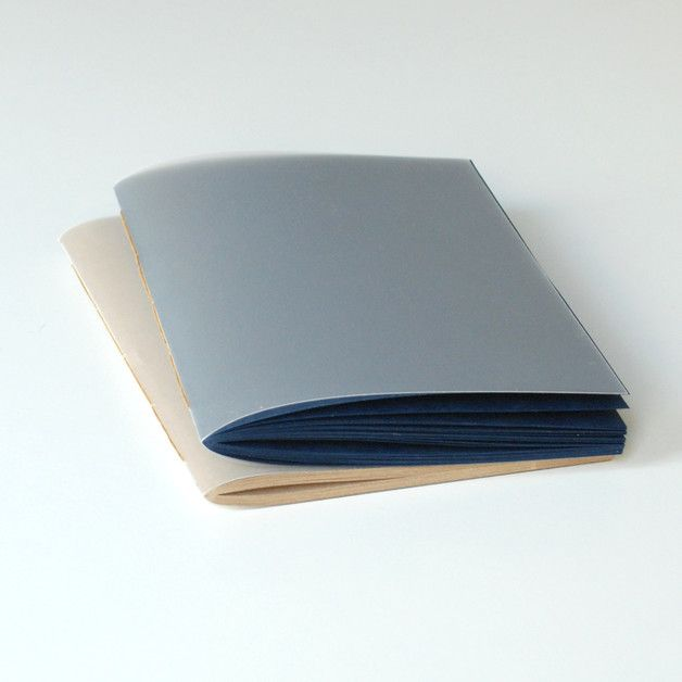 A5 – navy blue notebook with mat plexiglass cover A5 – a unique product by Kajet on DaWanda