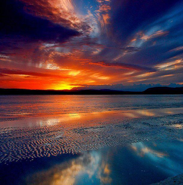 Morecambe Bay ~ part of the north west coastline of England.  Photo ~ Steve Thompson
