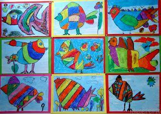 Tekenen en zo: Vogels in de stijl van Corneille (2e les)