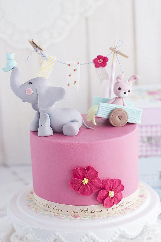 Tarta Elefante Bebe: Tutorial como hacer un elefante en pasta de azúcar - Megasilvita
