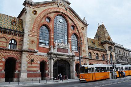 The Vásárcsarnok (Central Market Hall) in Budapest.