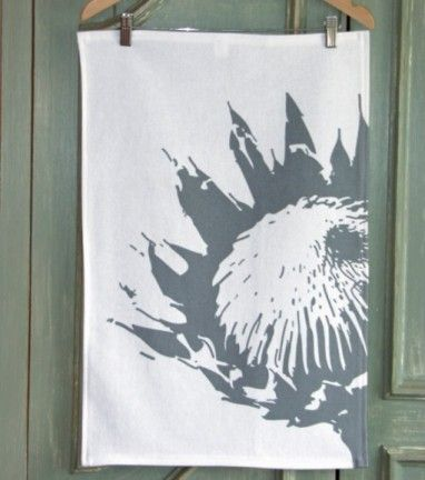 Protea Charcoal Tea Towel