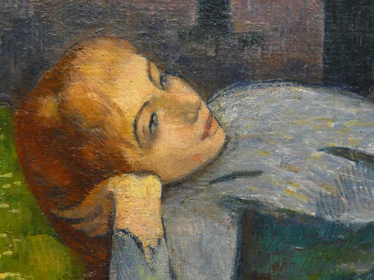 BERNARD Emile,1888 - Madeleine au Bois d'Amour - Detail 05 -   GAUGUIN à Emile BERNARD en 1888 : « Vous êtes extraordinairement doué et vous seriez arrivé quand même mais à une autre époque c'est-à-dire il y a 10 ans, vous n'auriez pas trouvé un seul pour vous admirer et vous regarder. Donc tant mieux pour vous. » (Arles, novembre 1888, Correspondance)