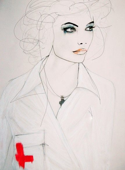 Leigh Viner: Red Crosses, Art Illustrations, Favorite Artists, Leigh Viners, Art Prints, Essential Art, Portraits Illustrations, Viners Illustrations, Fashion Illustrations