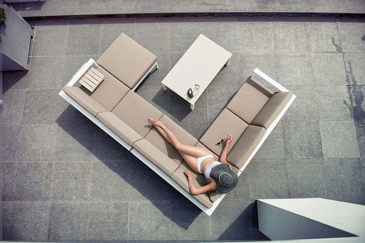 Loungeset Hoekbank Cosmo Aluminium   4 Seasons Outdoor!