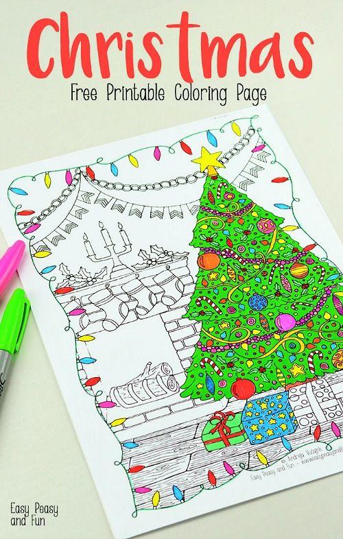 Christmas Tree Coloring Page Printable