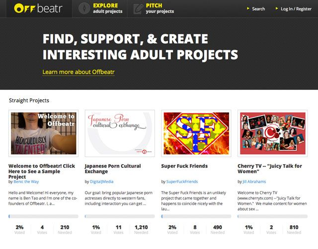 Offbeatr, A Crowdsourced Fundraising Site for Adult-Only Projects