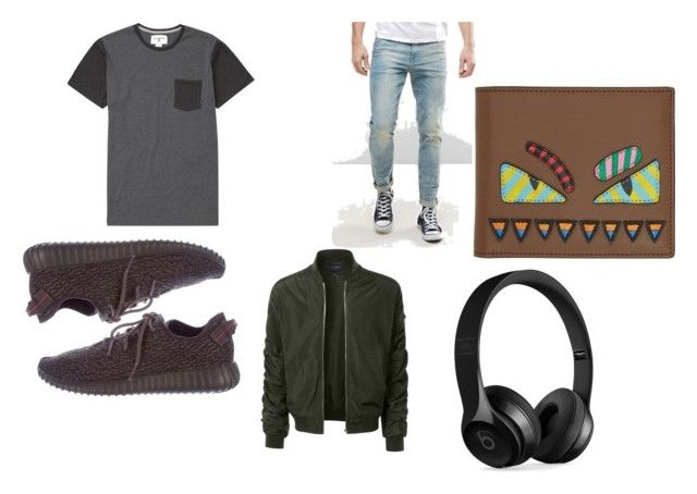 """""""idk"""" by canada-nickname ❤ liked on Polyvore featuring Billabong, ASOS, Yeezy by Kanye West, LE3NO, Fendi, Beats by Dr. Dre, men's fashion and menswear"""