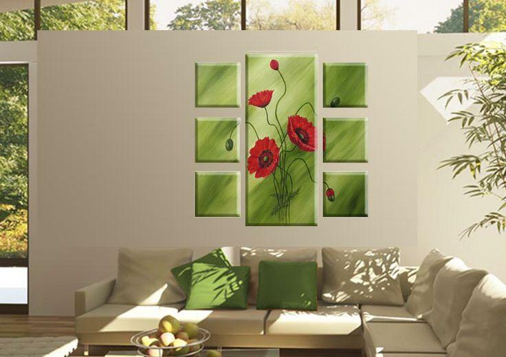 Tablouri Paint-flower 5516 Dimensiuni: 6x 25x25 - 1x 40x95 cm Total: 90x95 cm