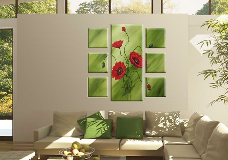 Tablouri Paint-flower 5516 Dimensiuni: 6x 25x25 - 1x 40x95 cm Total: 90x95 cm