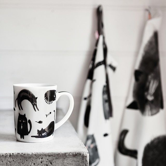Look what the cat dragged in! Get your paws on the feline fine mug before it sells out again.