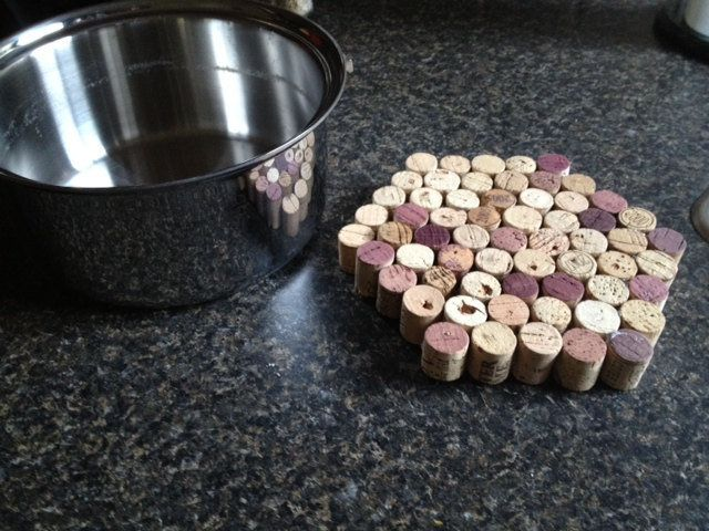 Let a steaming pot cool down on a cool legless trivet made from corks fused together.  Source: Etsy user amyyoung570