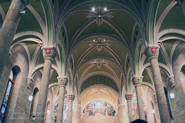 A fantastic piece of Indiana history  St. Joseph Church: Jasper, Indiana Approaching the Altar by Jessica Nunemaker, via Flickr