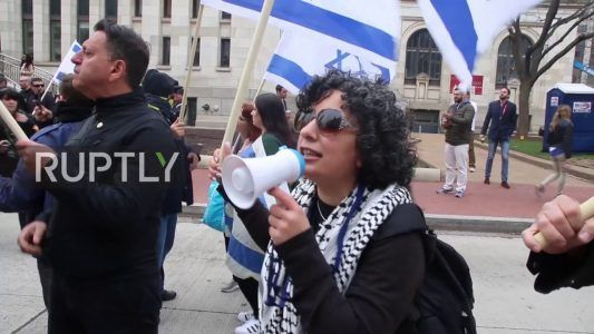 Clashes break out between protesters on first day of AIPAC conference #news #alternativenews
