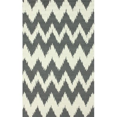 "Mercury Row Rutherford Soft Gray Chevron Area Rug Rug Size: 7'6"" x 9'6"""
