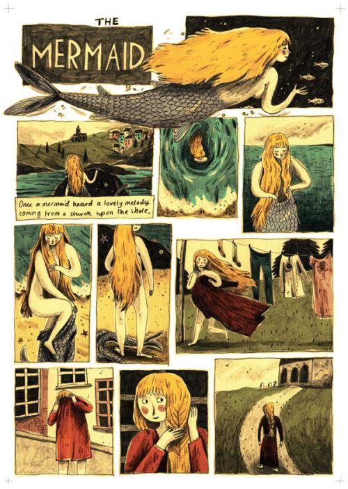 Illustration folklore graphic short story
