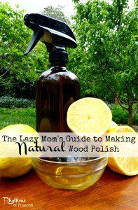 How to make natural wood cleaner & Polish.