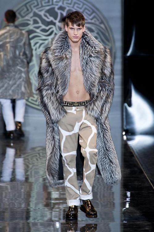 Versace (love the pants and coat in faux)