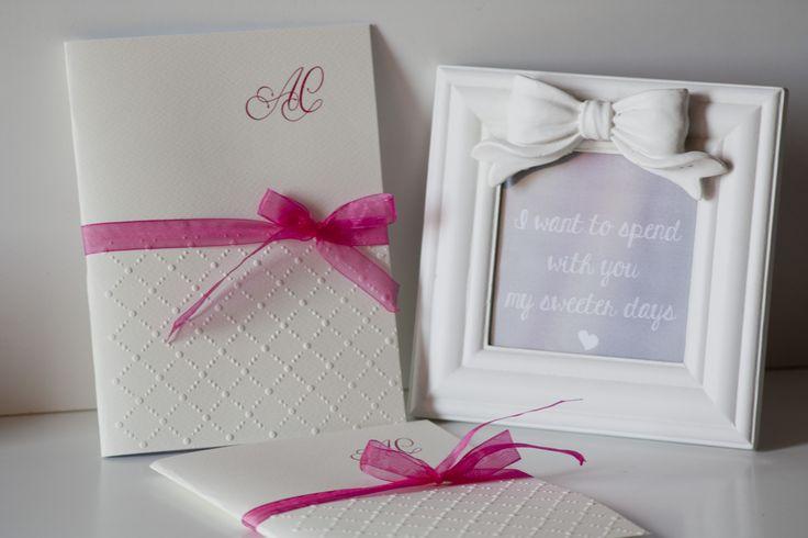 Libretti handmade per un Matrimonio Fragola & Lampone