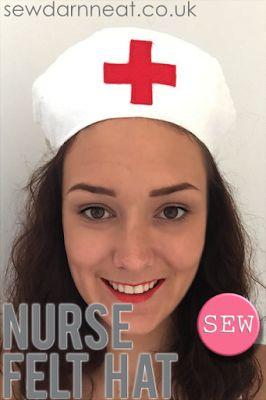 DIY Felt Nurse Hat with supplies  from Minerva Crafts!