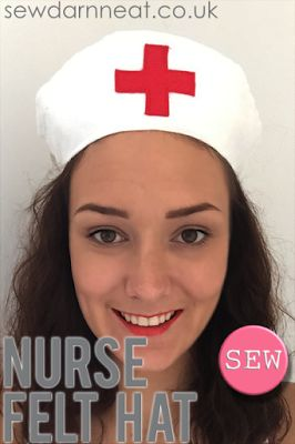 DIY Felt Nurse Hat with supplies  from Minerva Crafts!